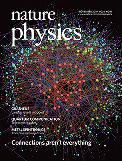Image result for nature physics cover november 2010